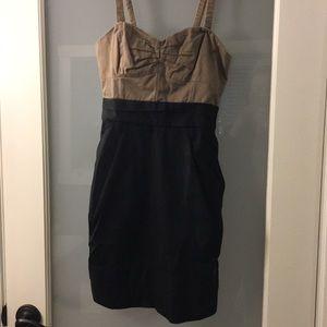 Wildred size 0 darker beige and black dress